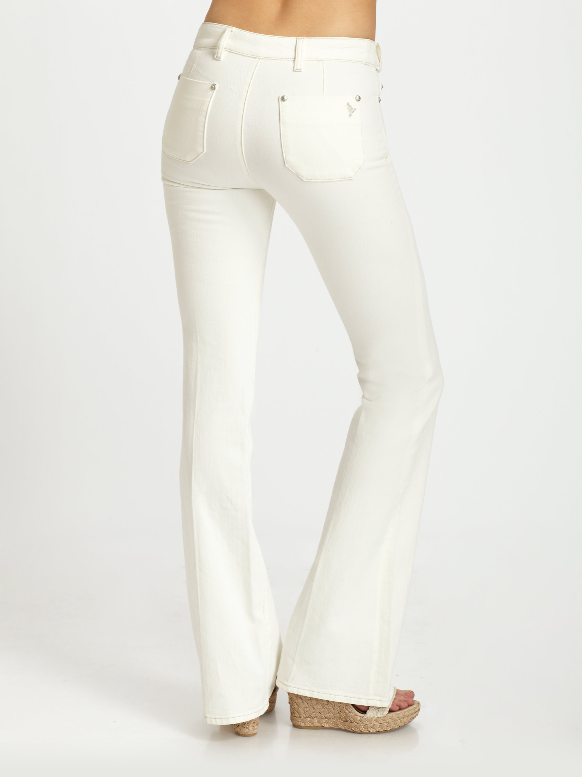 M.i.h jeans Marrakesh Aviator Kick Flare Jeans in White   Lyst
