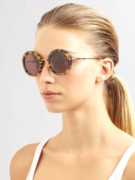 Miu Miu Sunglasses Round  miu miu retro noir round acetate sunglasses product 1 6044832 838296553 large flex jpeg