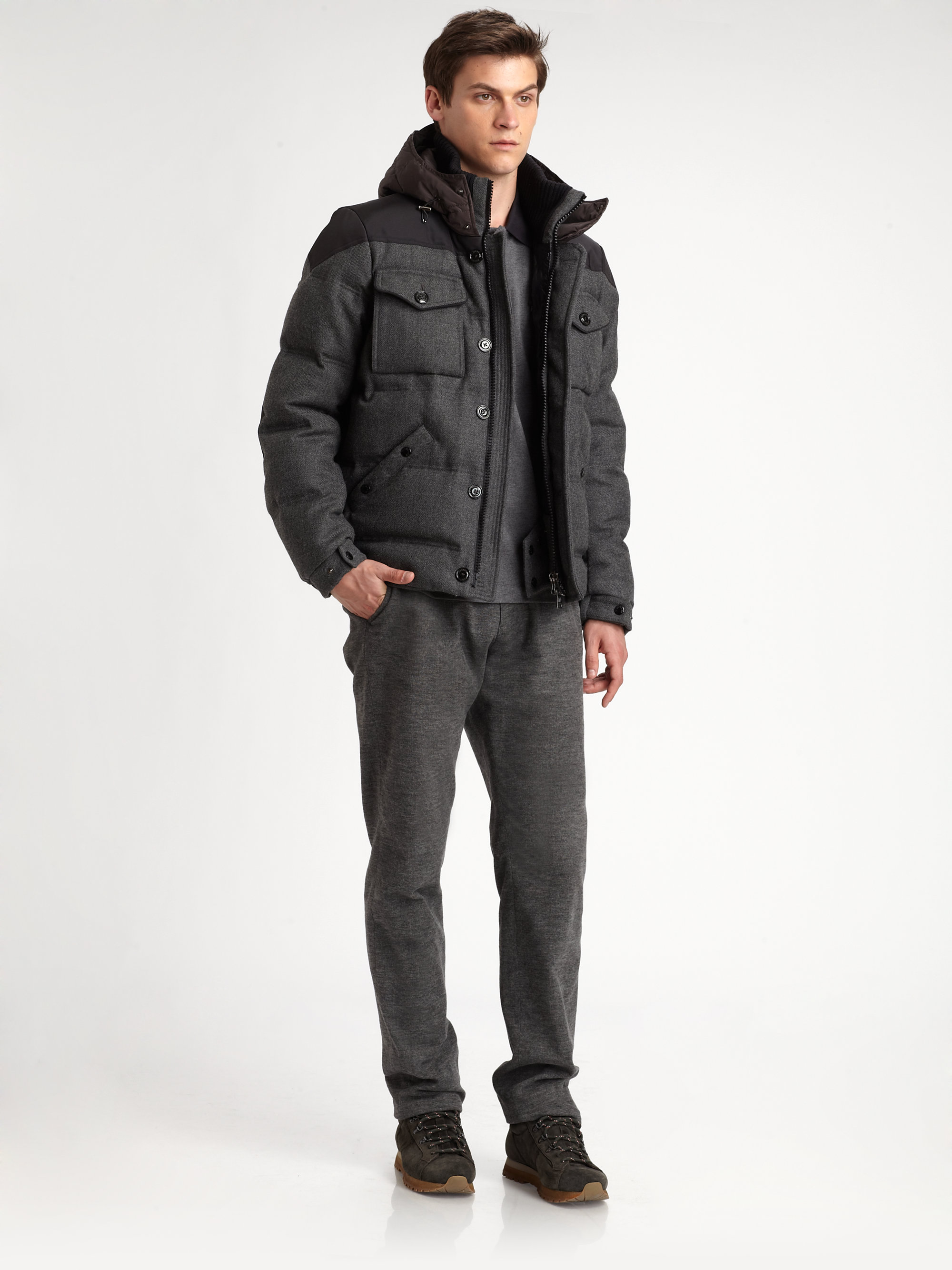 Moncler Republique Military Bomber Down Jacket for Men | Lyst
