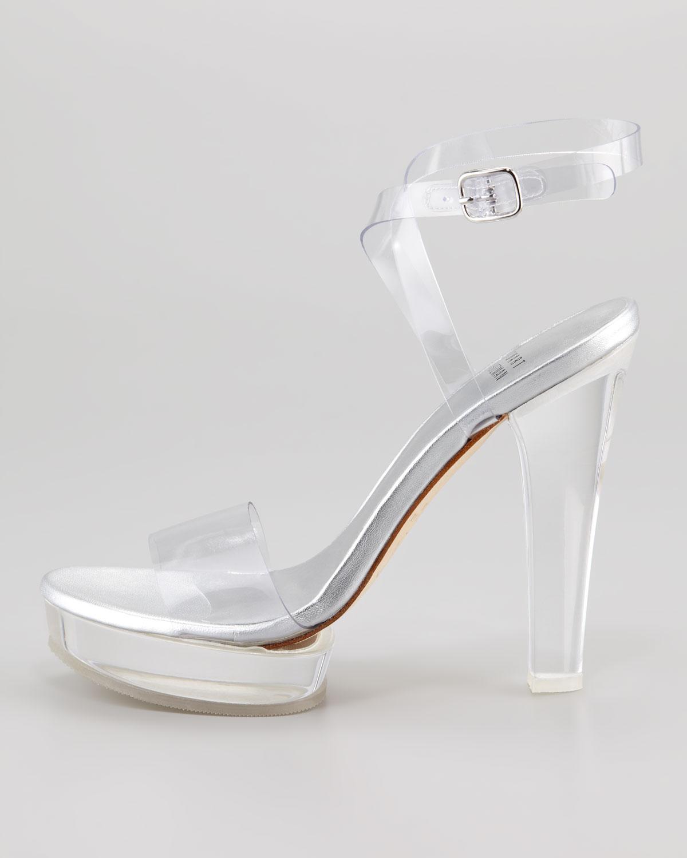 Lyst - Stuart Weitzman Visual Clear Platform Sandal
