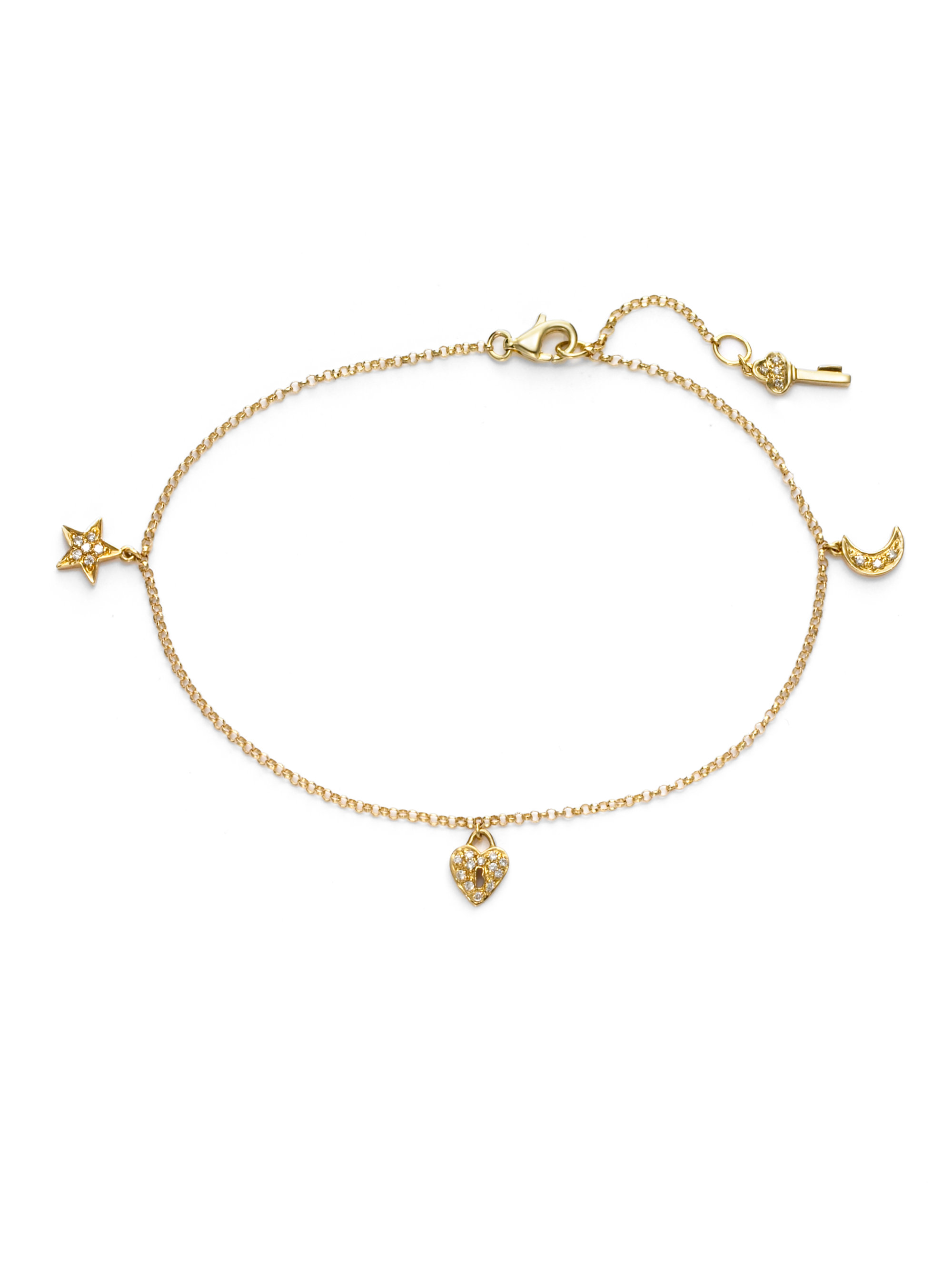singapore chain jewels cut ankle bracelet anklet product karat gold by diamond