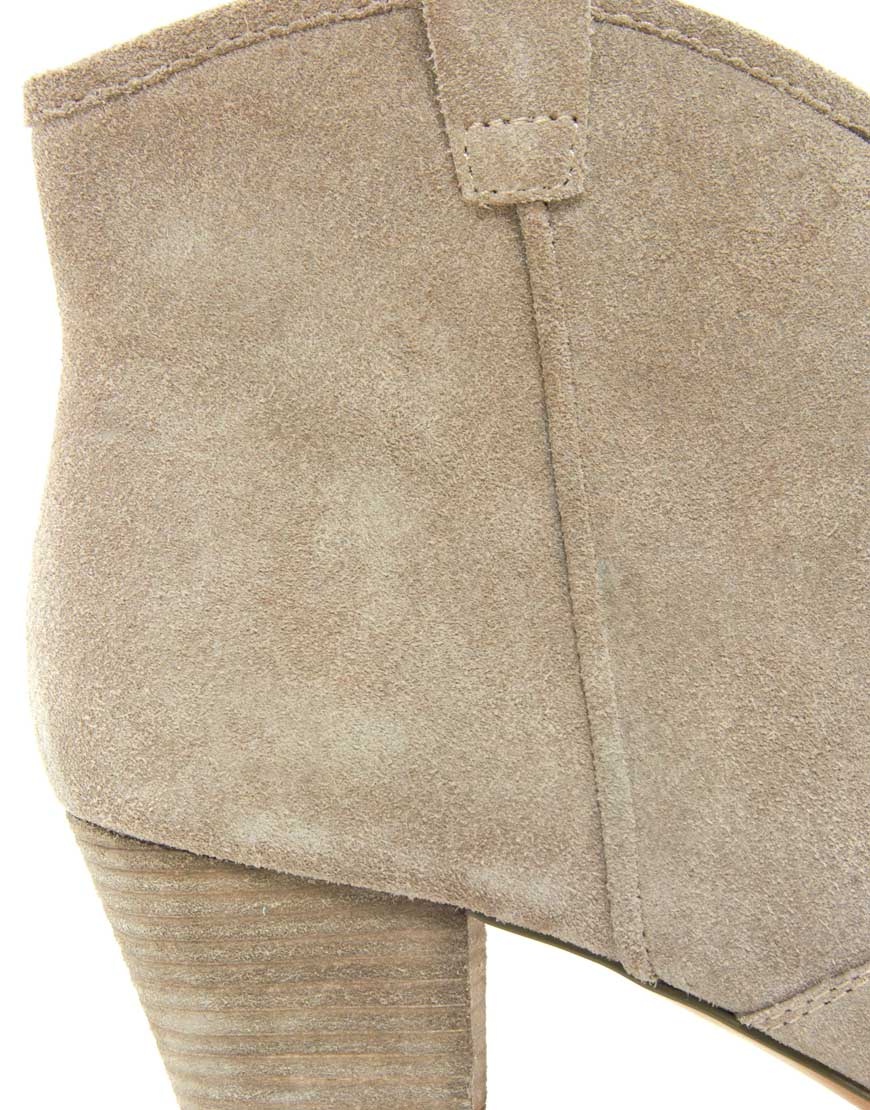 c2e9e5668ae Ash Spiral Taupe Western Boots in Natural - Lyst