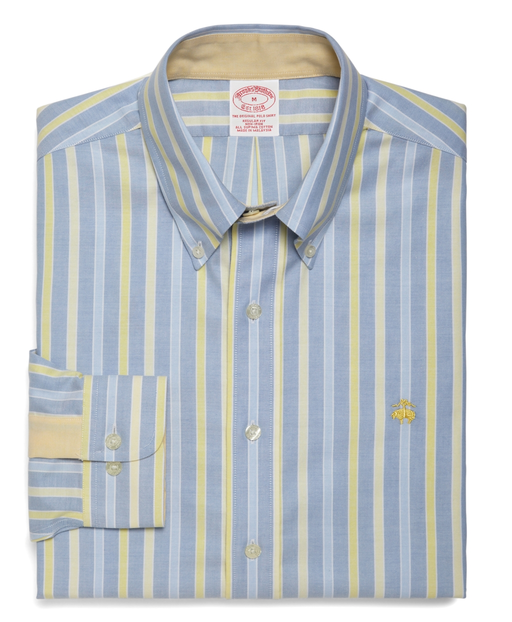 Brooks brothers non iron regular fit alternating framed Brooks brothers shirt size guide