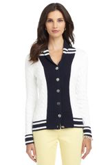 Brooks Brothers Cable Buttonfront Cardigan
