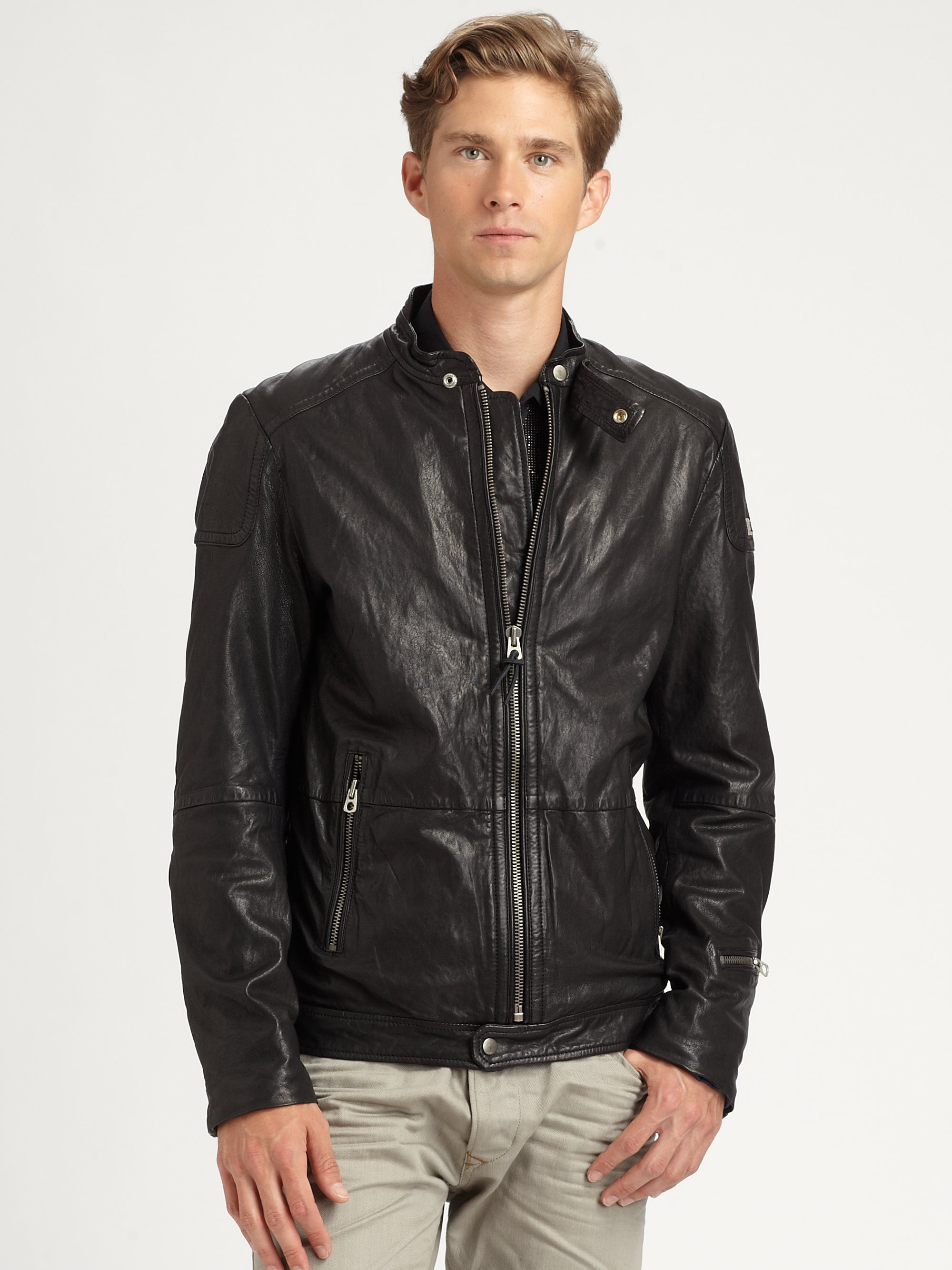 Diesel Leather Jacket Jacketin