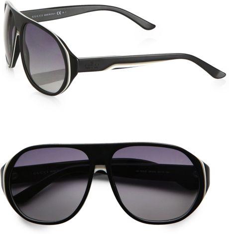 fa1471fae3 Gucci Oversized Plastic Sunglasses in Black for Men