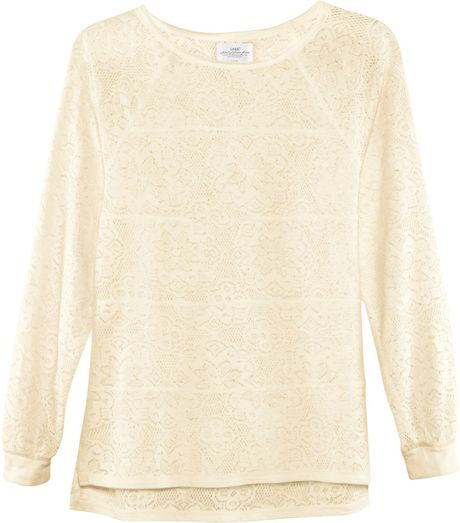H&m Crew Neck Blouse in Beige (natural)