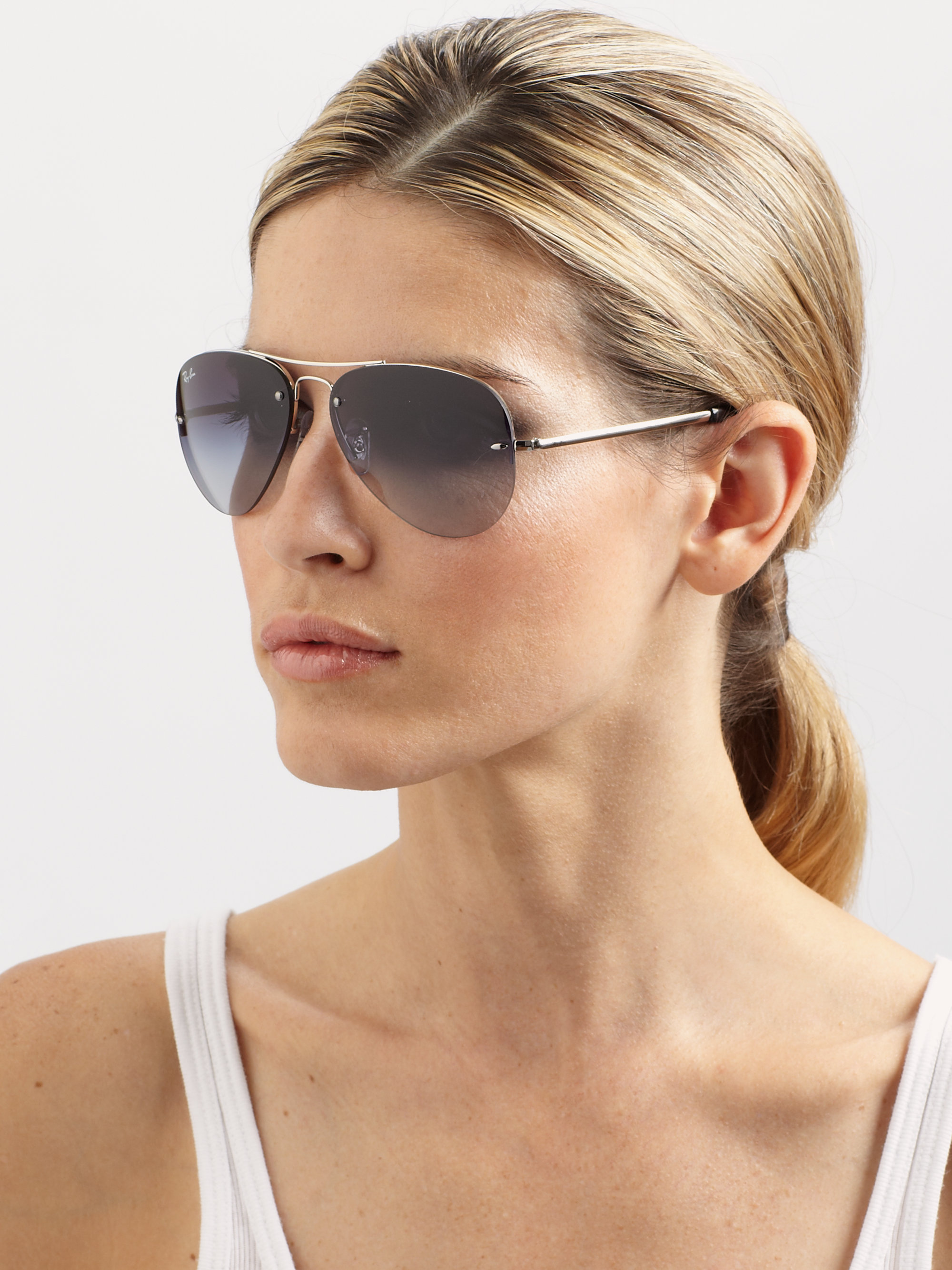 ray ban 55 mm aviator