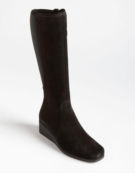 la canadienne singer suede boots in black black suede lyst