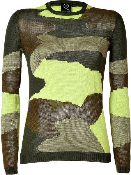 Mcq By Alexander Mcqueen Military neon Camouflage Pullover in Khaki (camo) - Lyst