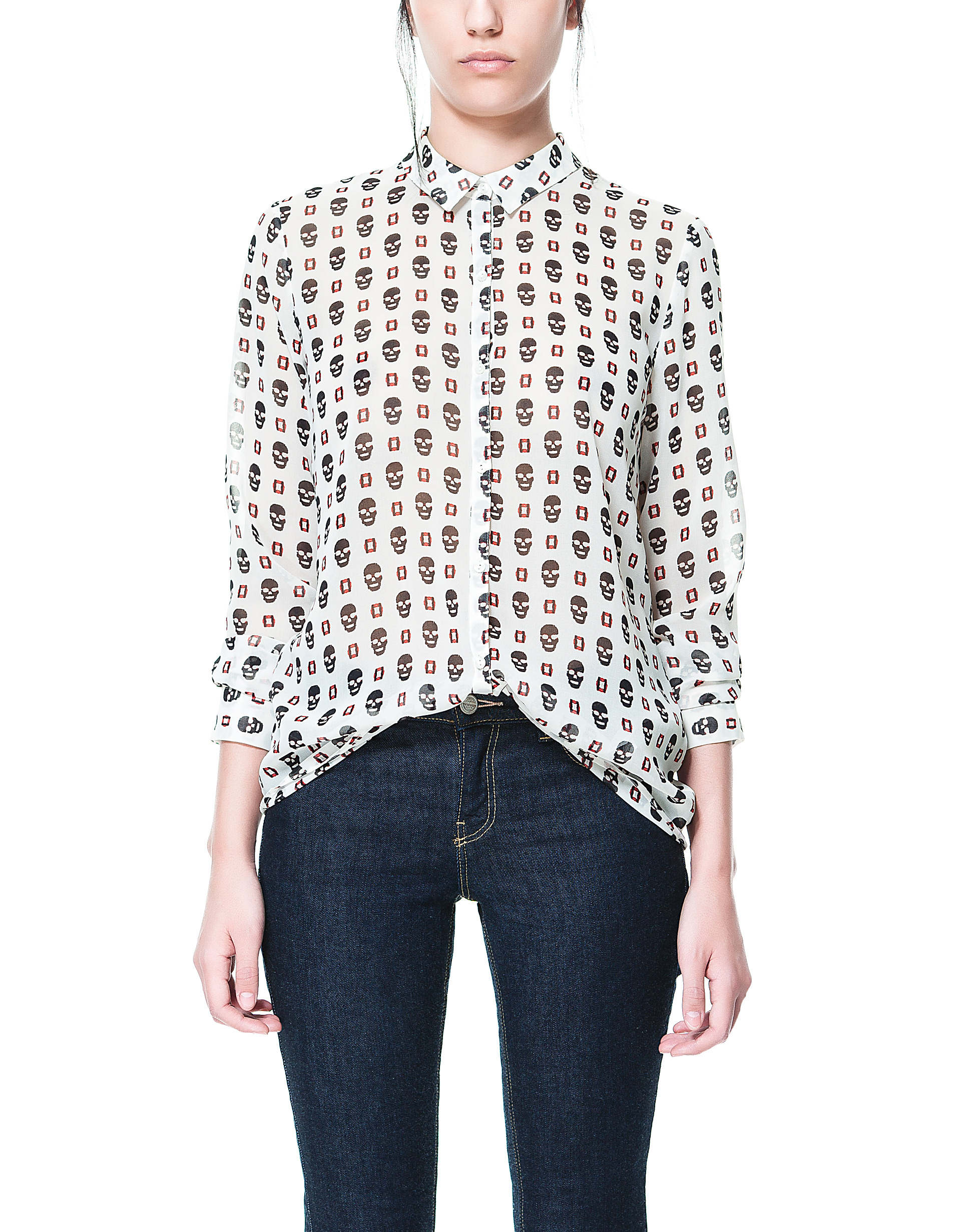 Women's Blouses with Skull Prints, Current Fashion Models