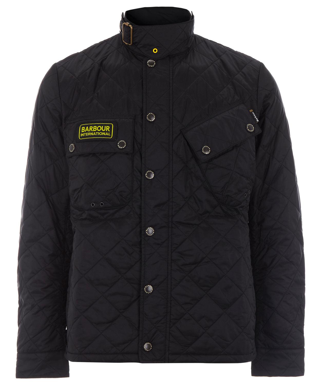 Barbour mens tankerville black quilted jacket