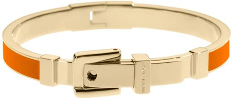 Michael Kors Buckle Bangle in Orange (mandarin)