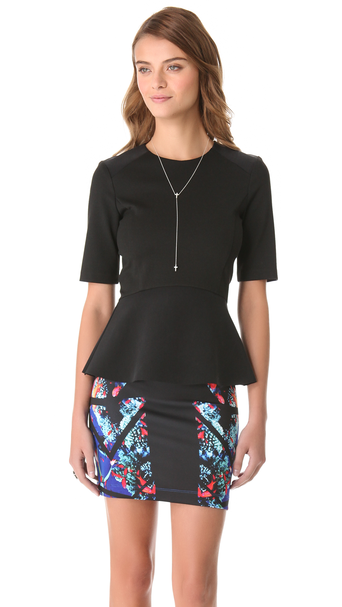 Shop for womens black peplum top online at Target. Free shipping on purchases over $35 and save 5% every day with your Target REDcard.