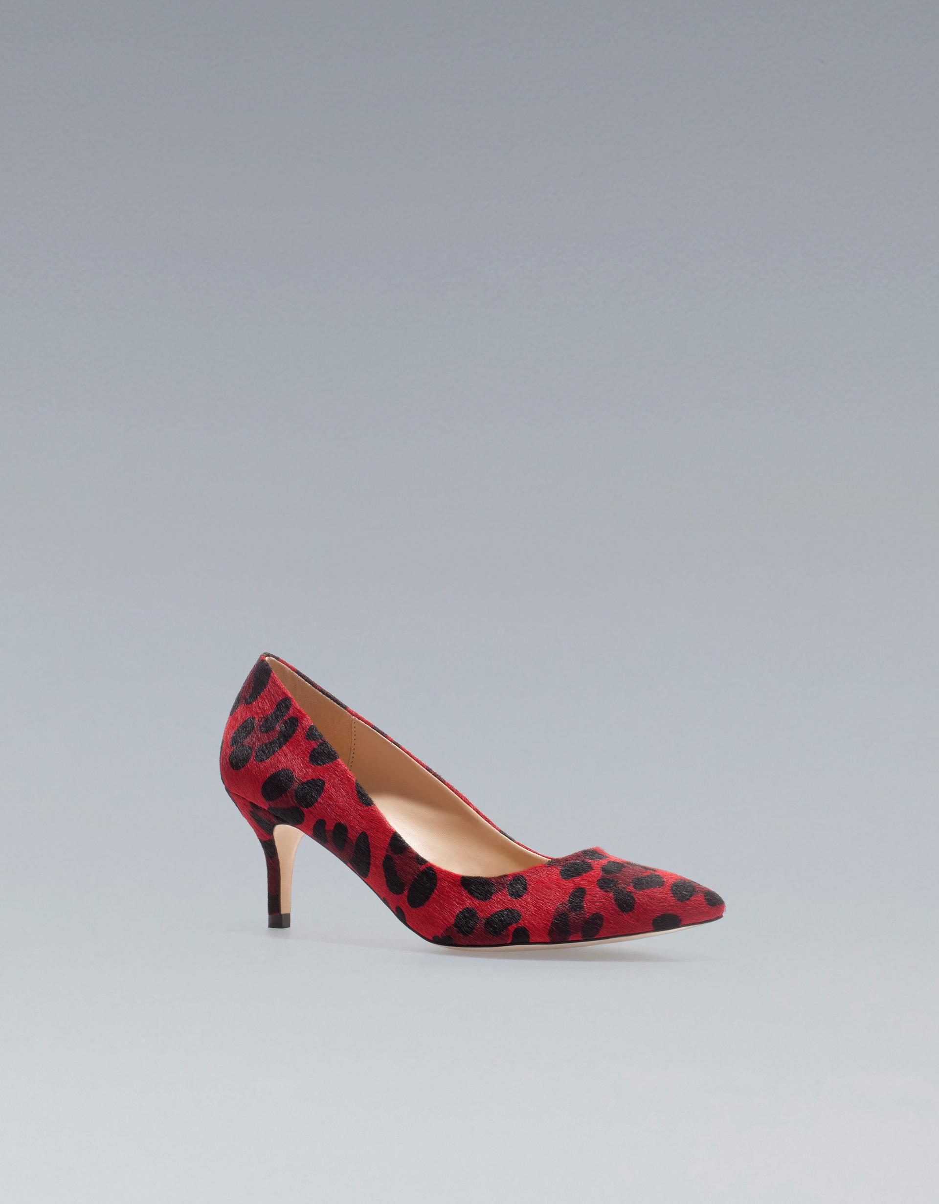 Leather Kitten Heel Shoes