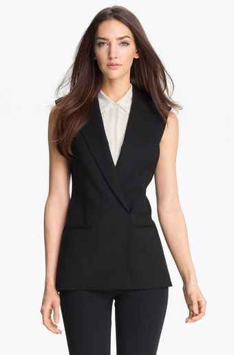 Theory Annea Sleeveless Blazer - Lyst