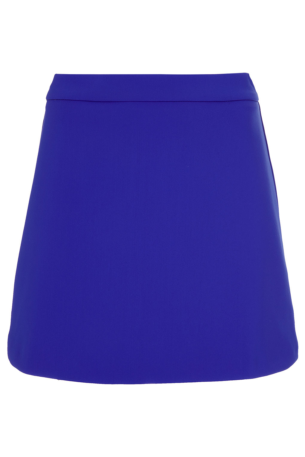 topshop a line skirt in blue lyst