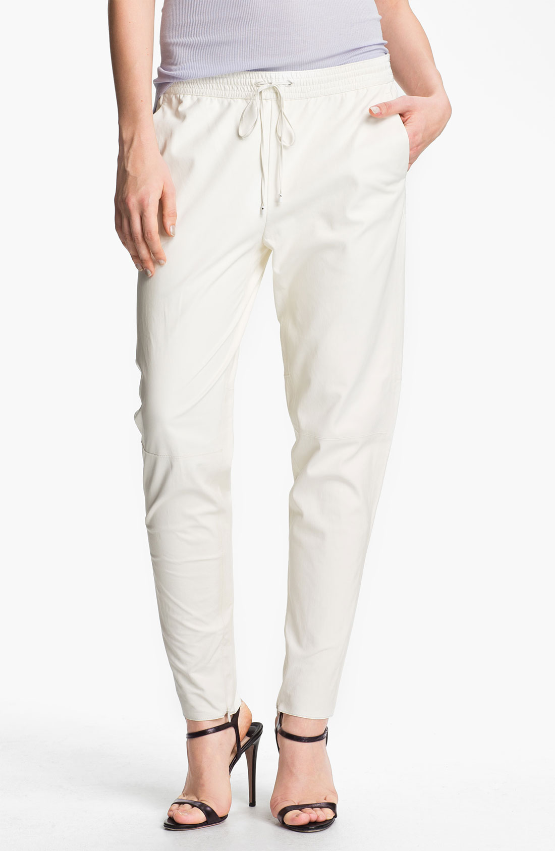 Vince Leather Pants In White Lyst