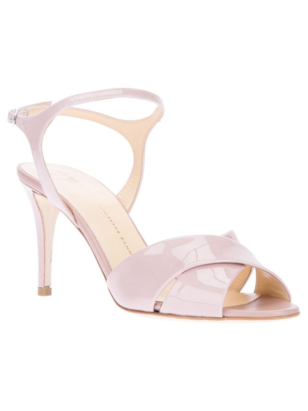 giuseppe zanotti patent sandal in pink lyst