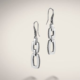 John Hardy Double Drop Earrings On French Wire - Lyst