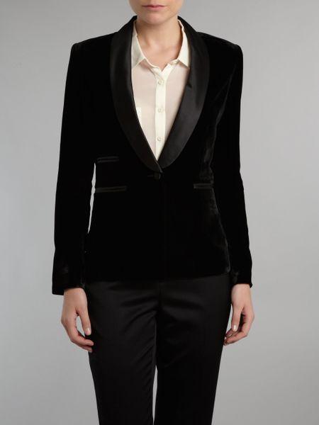 Denim u0026 Supply Ralph Lauren Tuxedo Jacket in Black | Lyst