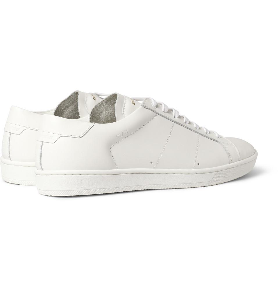saint laurent leather sneakers in white for men lyst. Black Bedroom Furniture Sets. Home Design Ideas