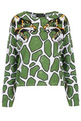 Topshop Embroidered Tiger Sweat