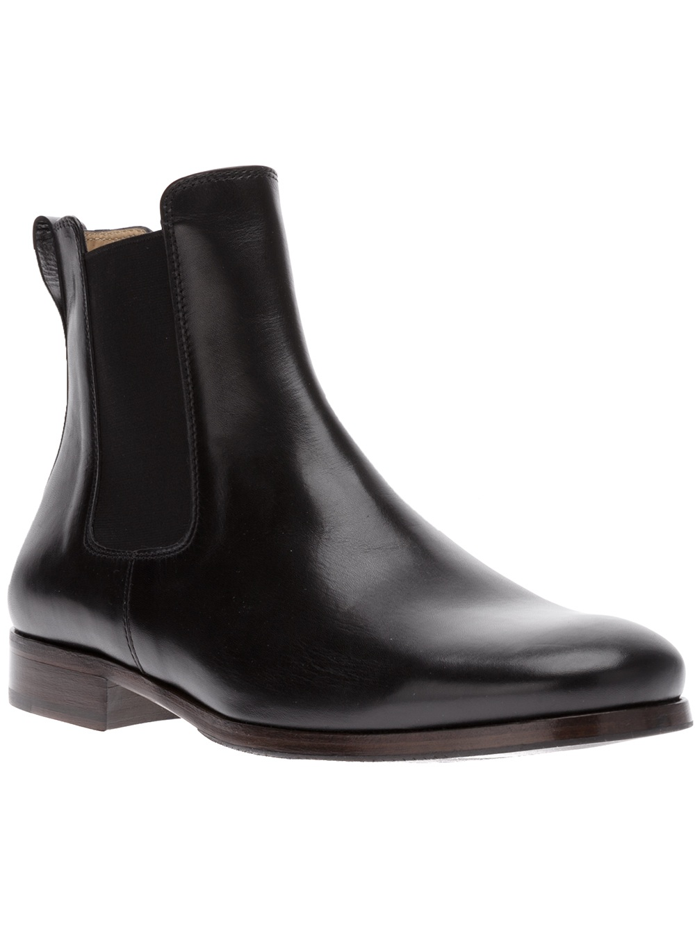 Lyst A P C Black Leather Chelsea Boots In Black For Men