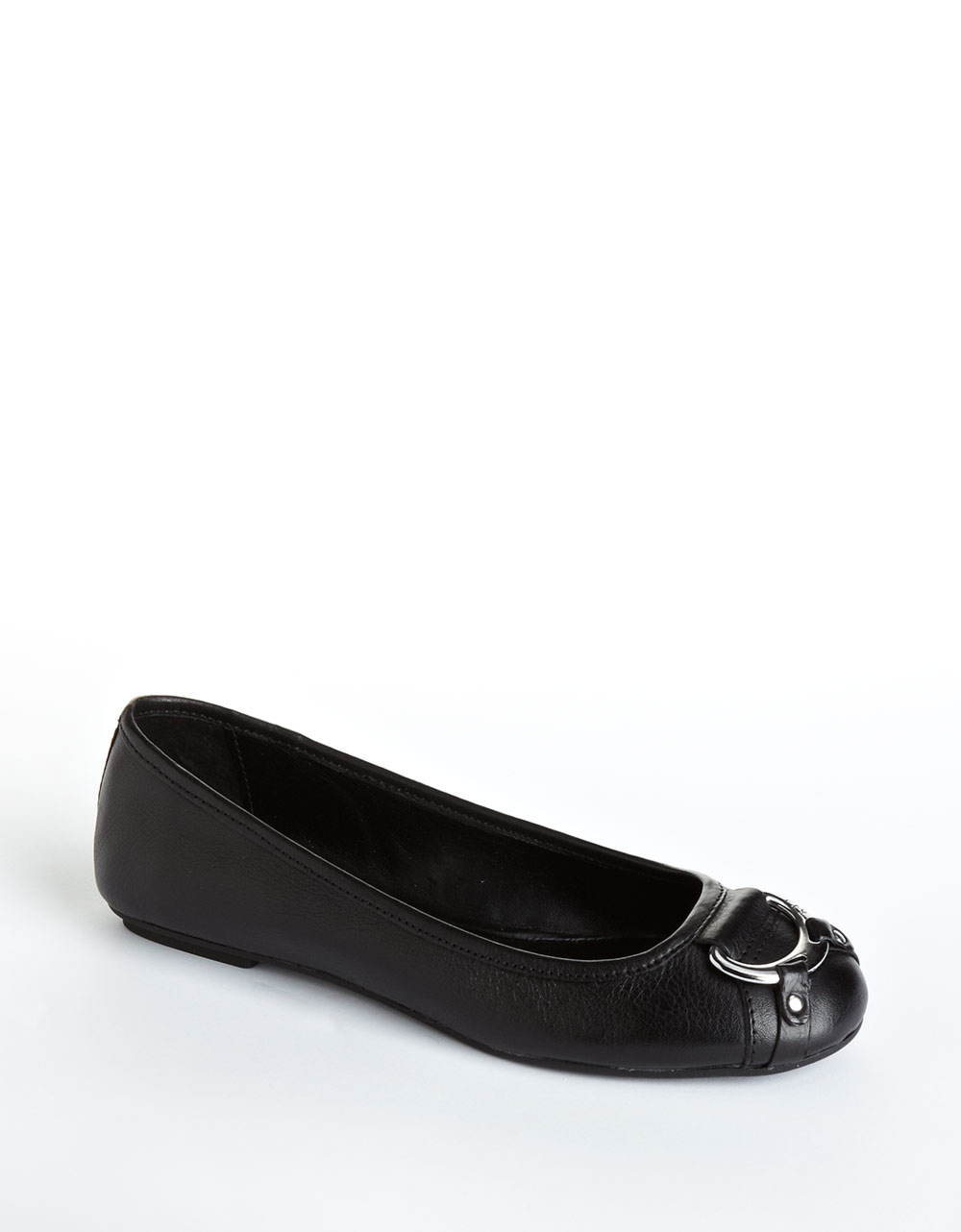 lauren by ralph lauren abigale leather ballet flats in black lyst. Black Bedroom Furniture Sets. Home Design Ideas