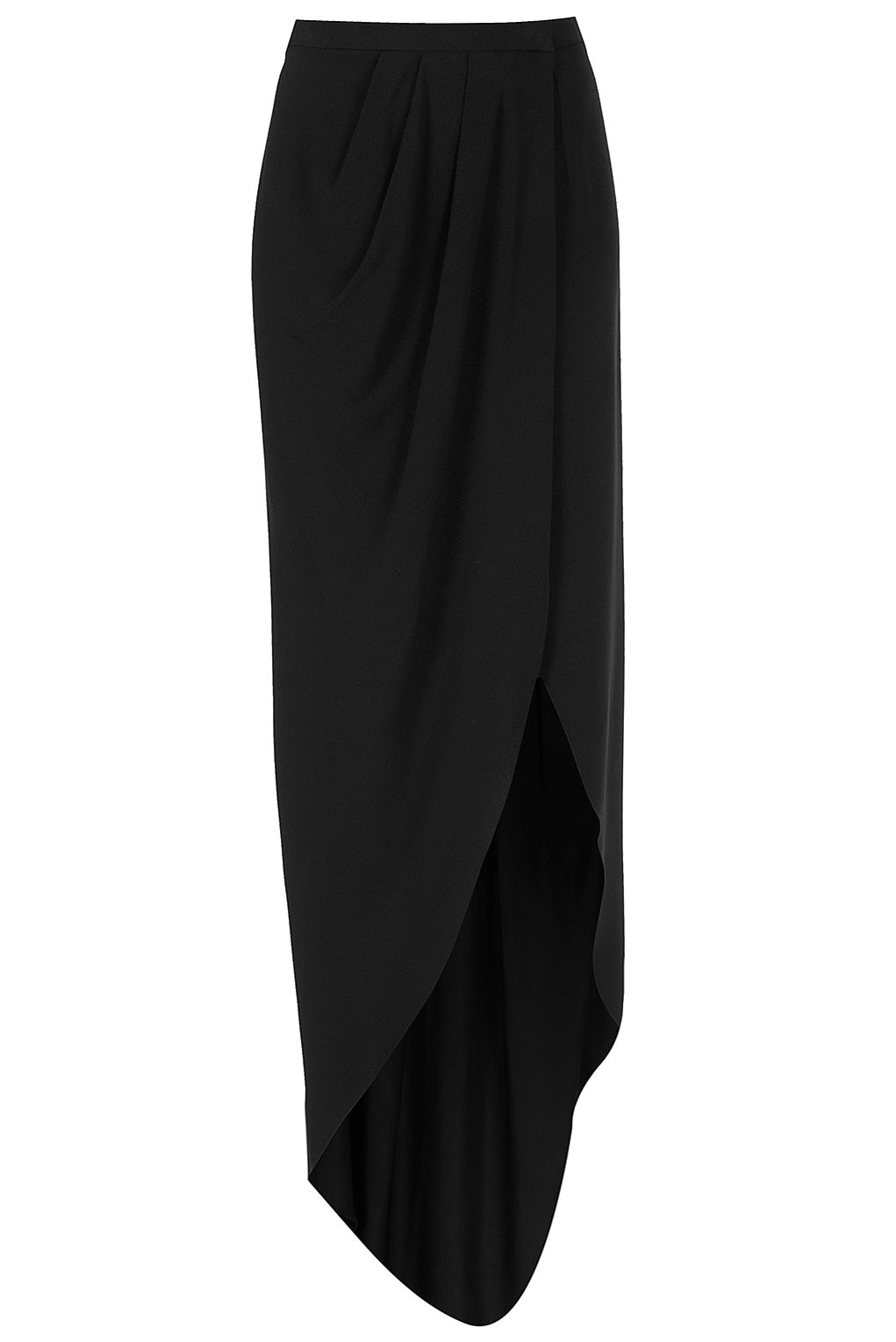 Topshop Wrap Maxi Skirt By Boutique in Black | Lyst