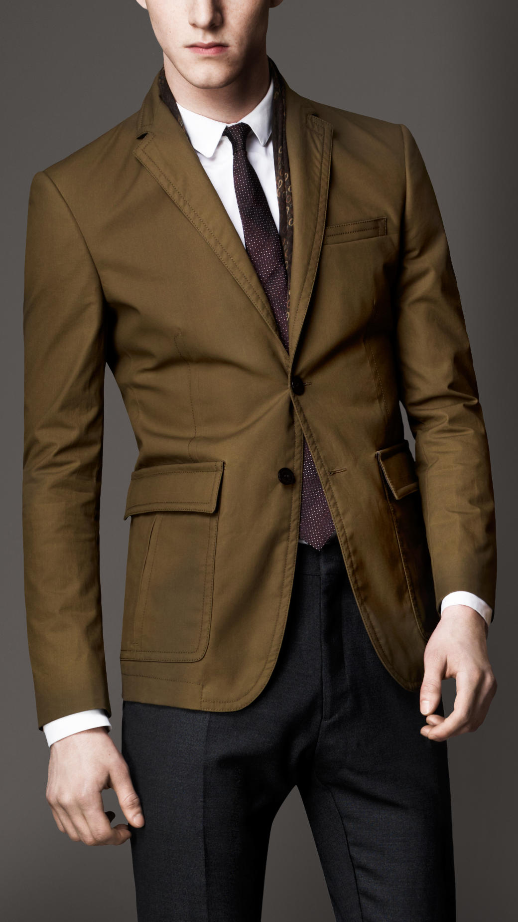 Burberry Modern Fit Waxed Cotton Sports Jacket with Leather ...