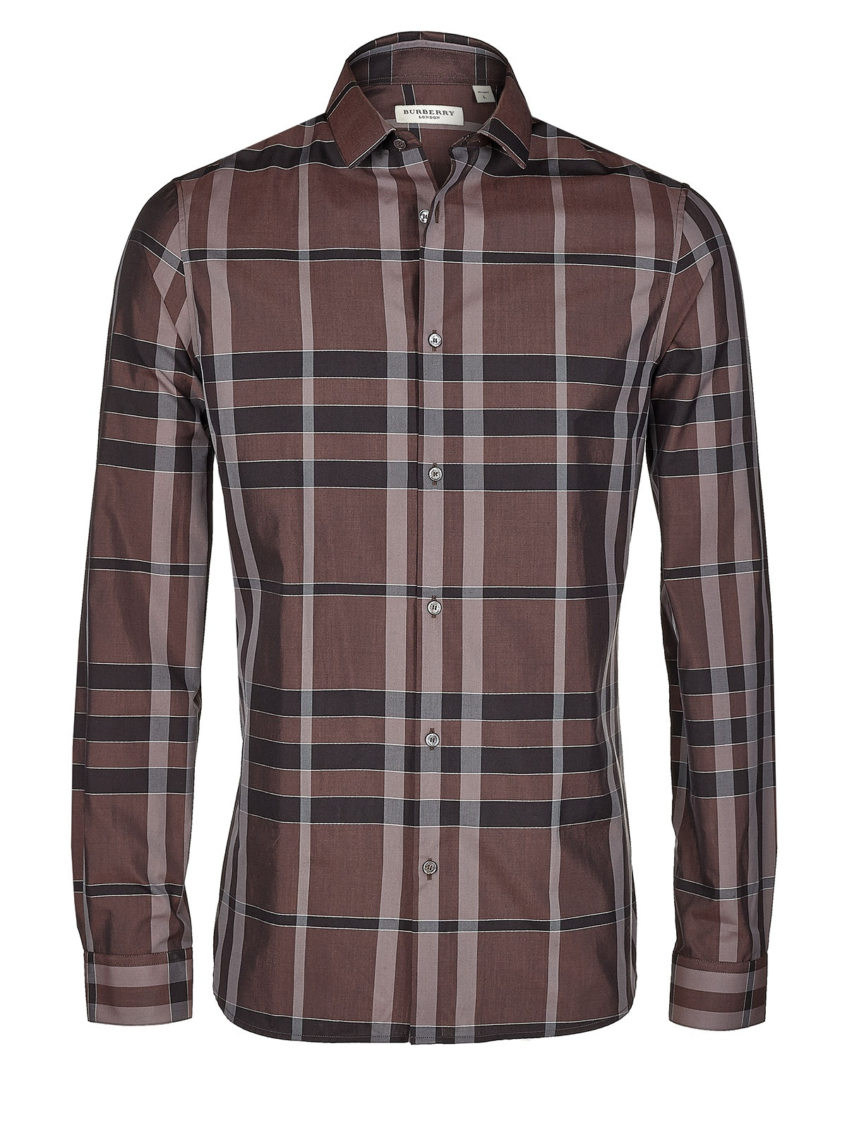burberry shirt plaid in brown for men lyst. Black Bedroom Furniture Sets. Home Design Ideas
