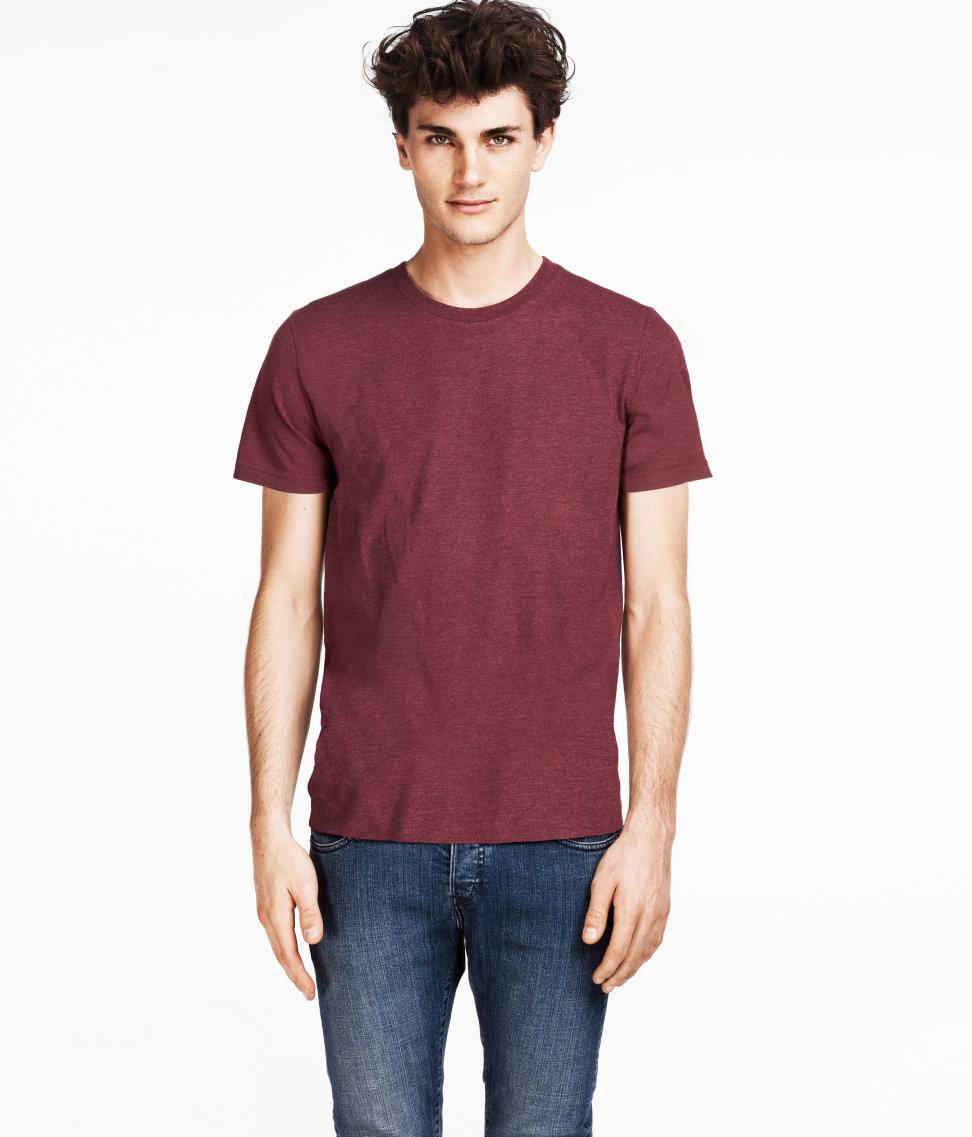 lyst h m tshirt in red for men. Black Bedroom Furniture Sets. Home Design Ideas
