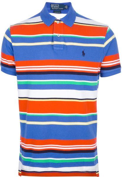 Polo Ralph Lauren Striped Polo Shirt in Multicolor for Men (blue ...