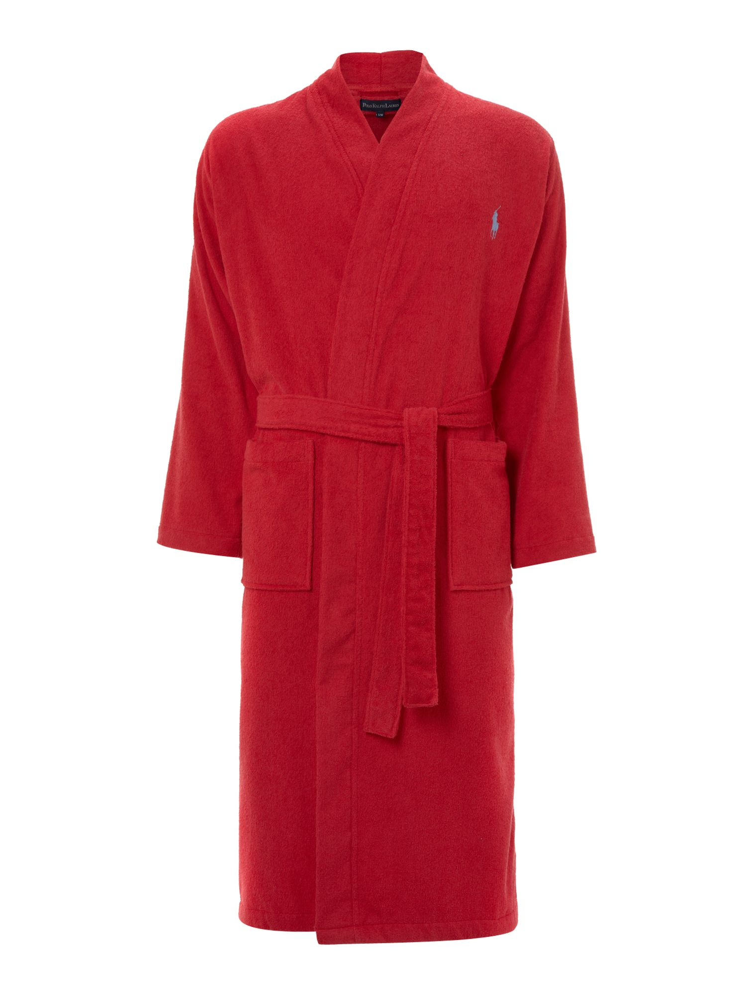 polo ralph lauren terry night robe in red for men lyst. Black Bedroom Furniture Sets. Home Design Ideas
