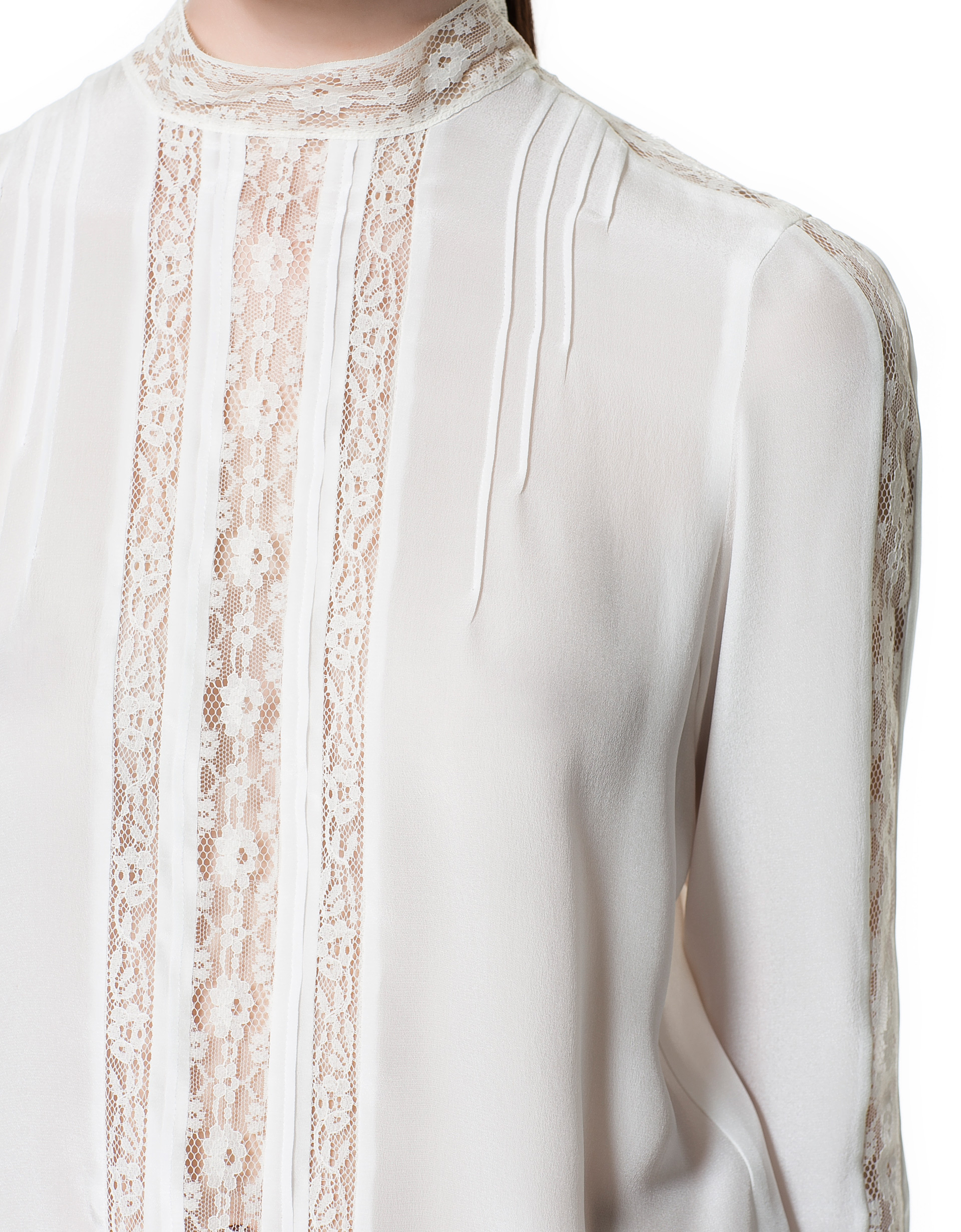 Zara White Silk Blouse 6