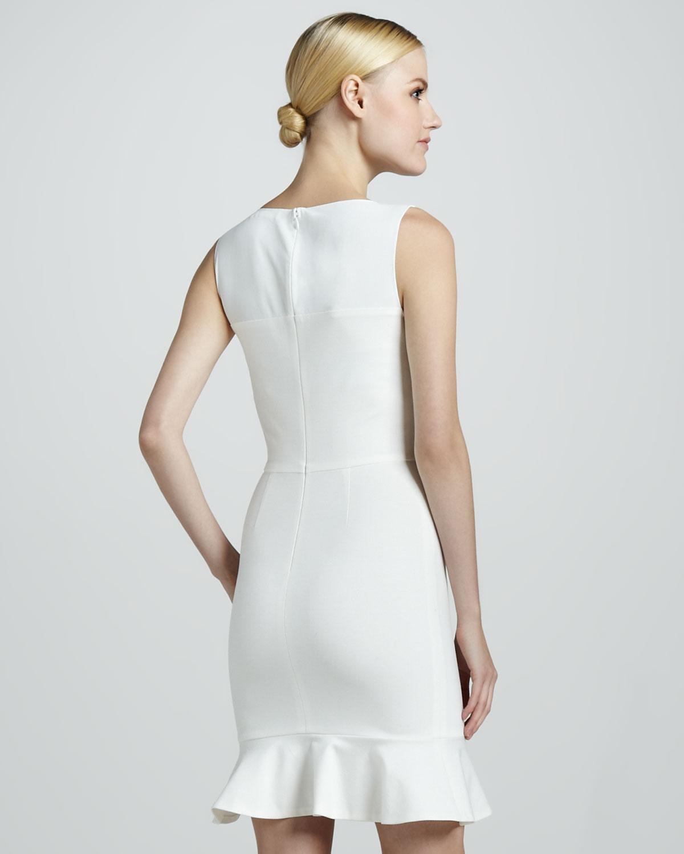Erin Fetherston Sleeveless Flounce Dress In White Lyst