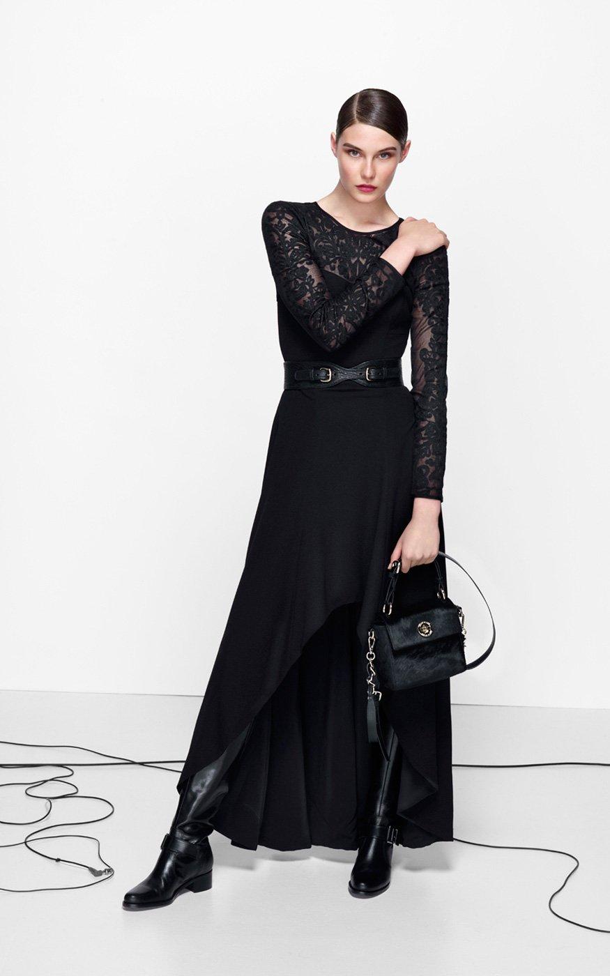 Lyst Karen Millen Lace Sleeve Maxi Dress In Black