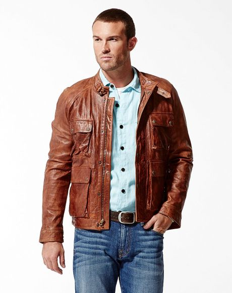 Lucky Brand Bronson Leather Jacket in Brown for Men - Lyst