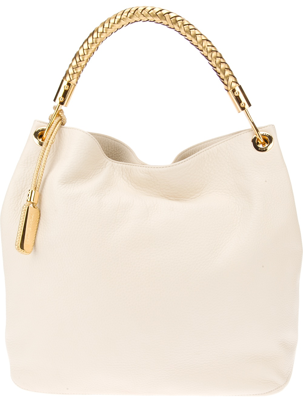 Michael Kors Braided Handle Tote In Beige Cream Lyst