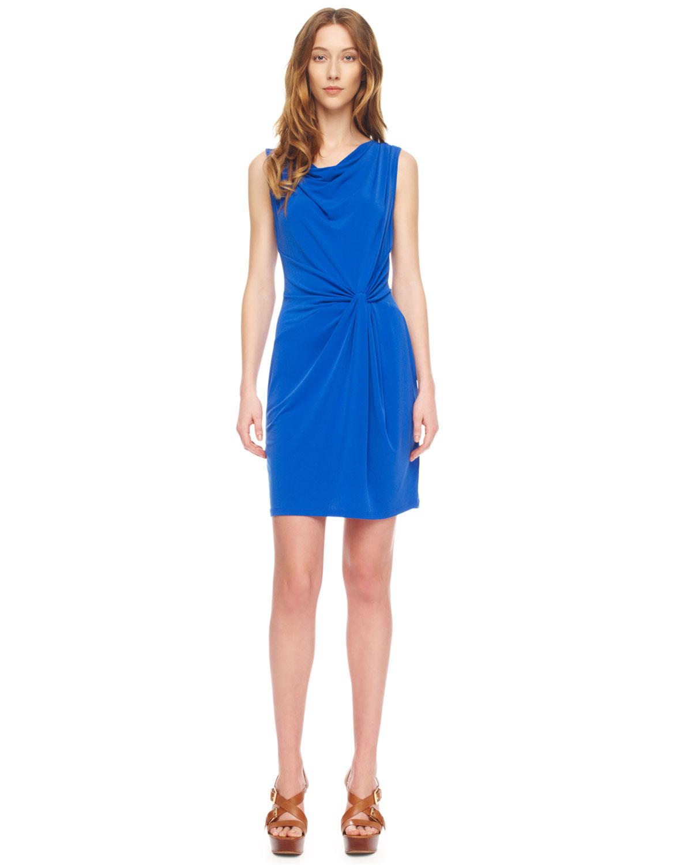Lyst - Michael Kors Twistknot Jersey Dress in Blue