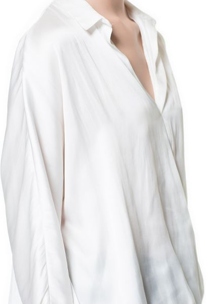 Zara White Crossover Blouse 97