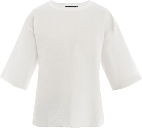 Dolce & Gabbana Rolled Sleeve Cottonlinen Shirt in White for Men