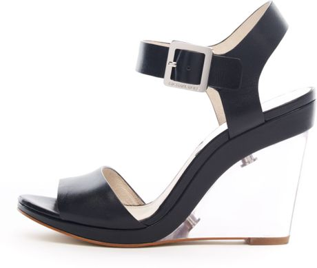 Michael Kors Lana Clearwedge Sandal in Black