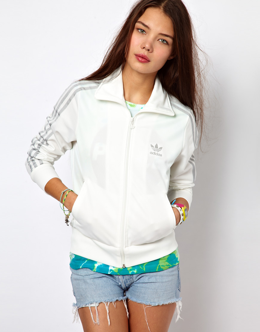 Lyst Adidas in Firebird Track Top in Adidas White 4d51e5