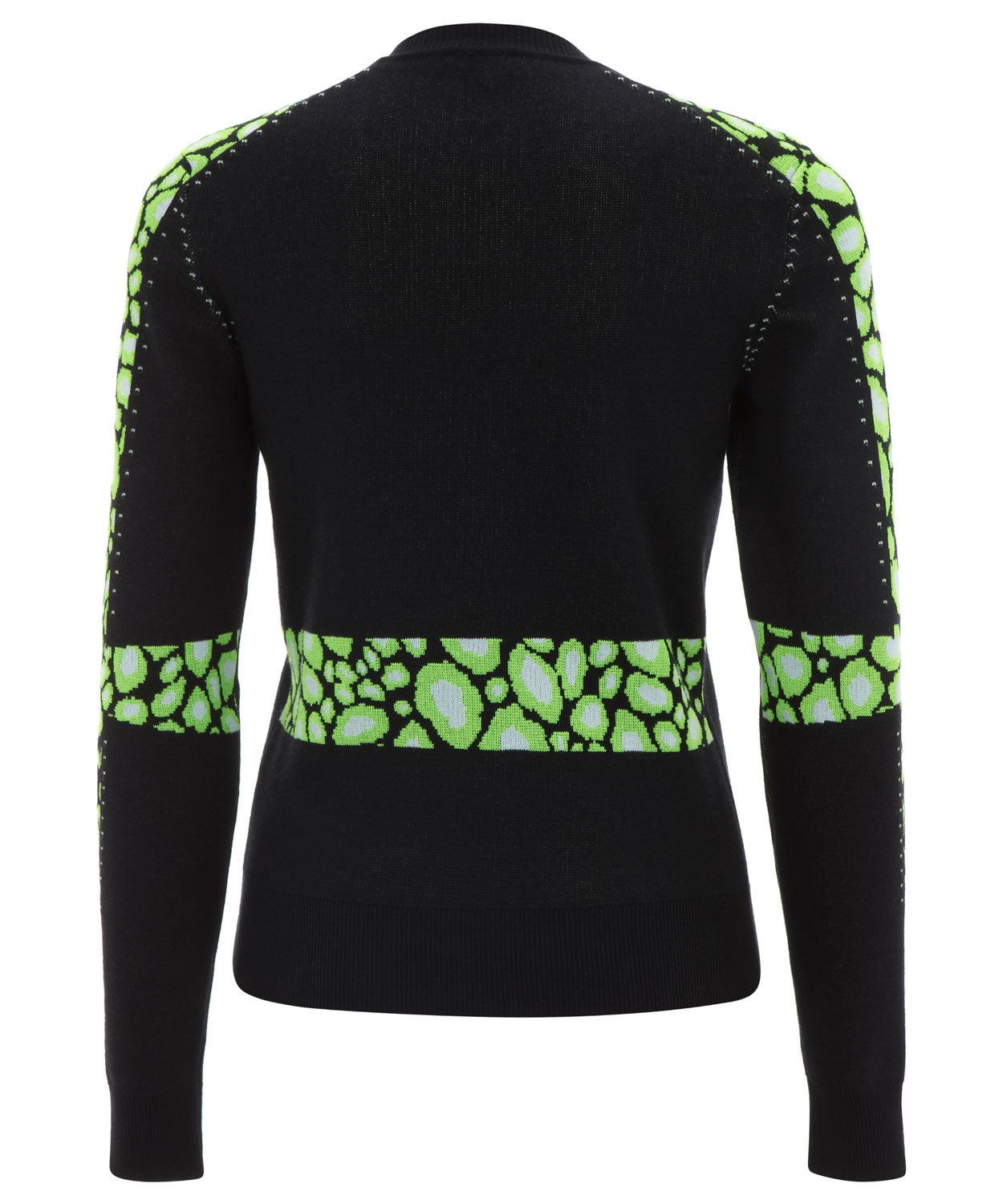 Kenzo Midnight and Green Leopard Intarsia Knitted Jumper in Black ...