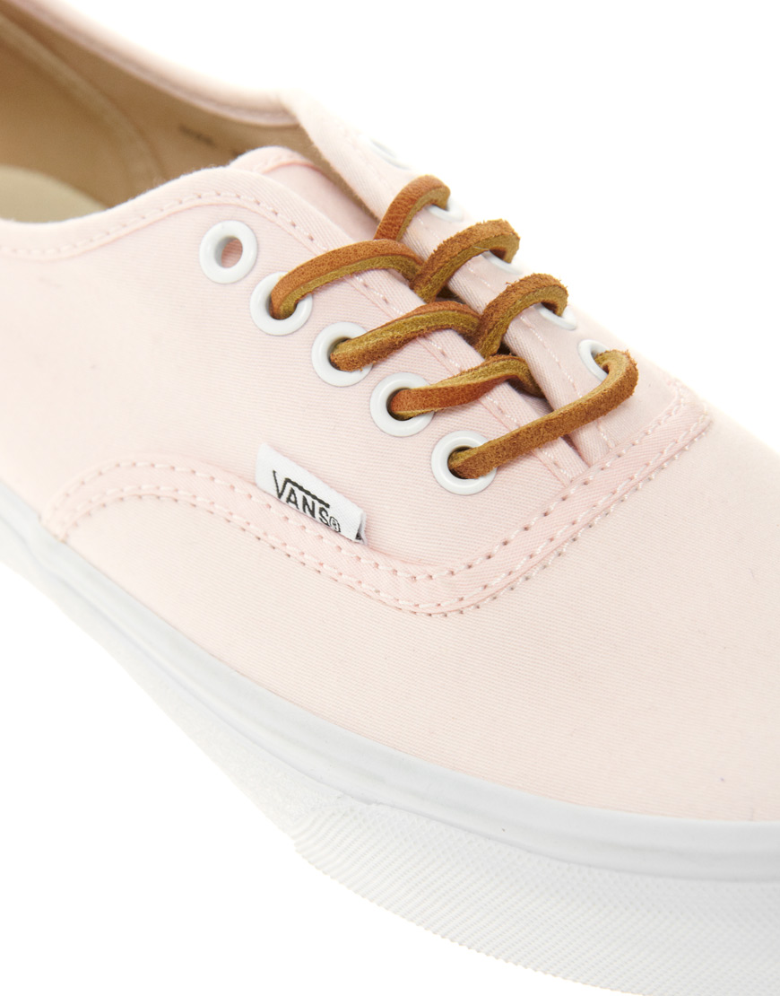 a9ac1621d6 Lyst - Vans Authentic Slim Light Pink Trainers in Pink