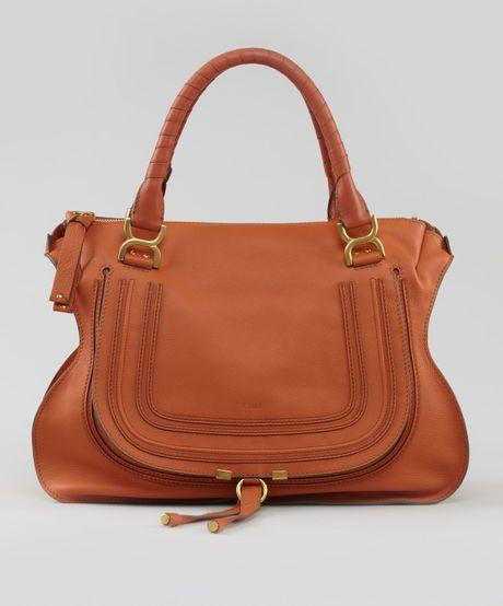 chlo marcie large shoulder bag in brown rust lyst. Black Bedroom Furniture Sets. Home Design Ideas