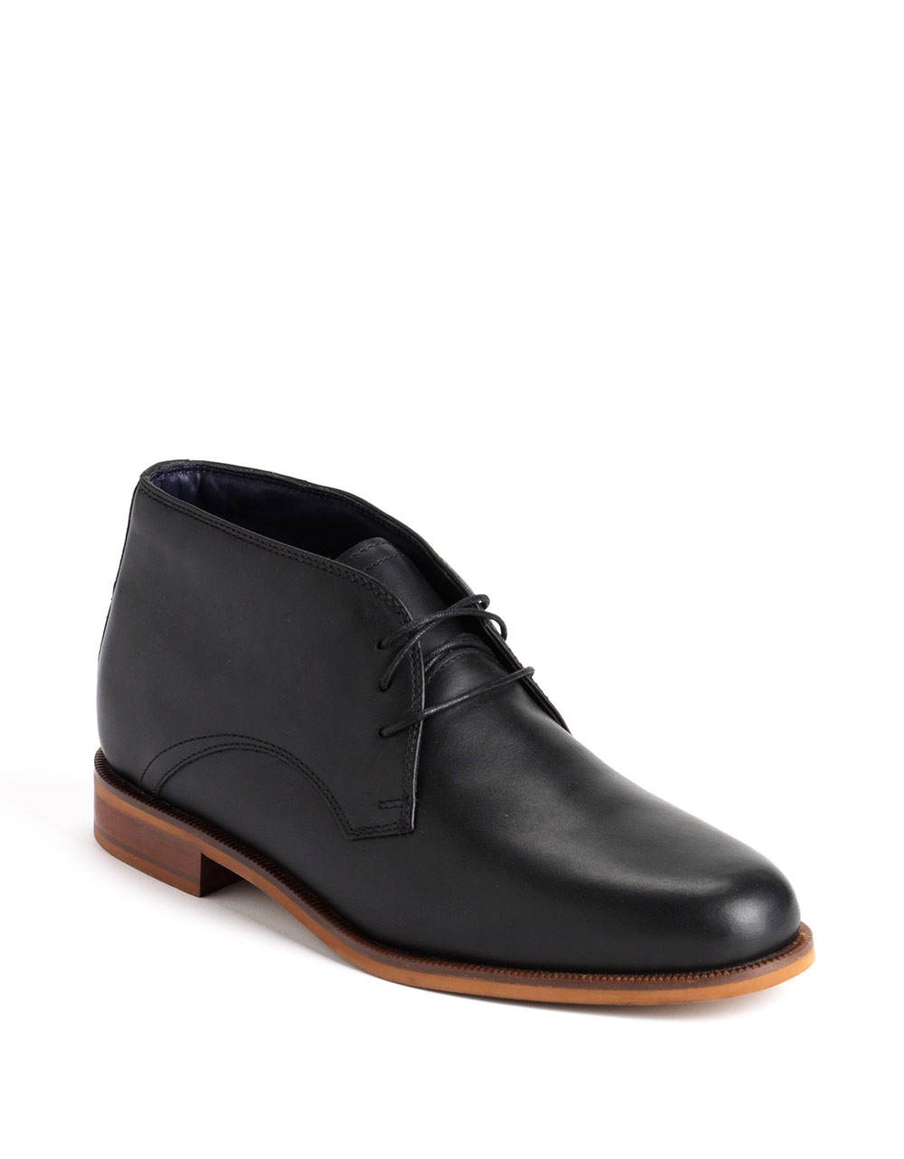 cole haan chukka leather boots in black for lyst