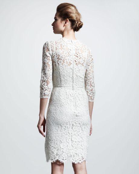 Dolce And Gabbana White Lace Dress Gabbana White Lace Dress